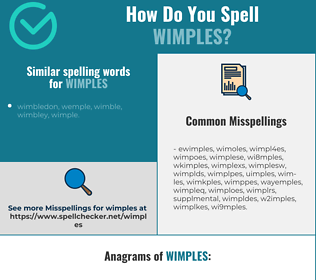 Correct spelling for wimples
