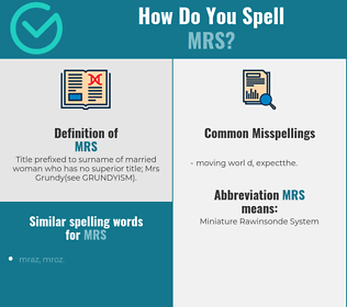 Correct spelling for mrs