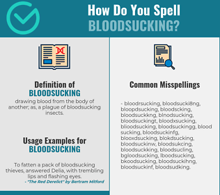 Correct spelling for bloodsucking