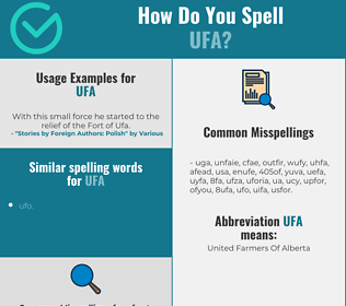 Correct spelling for ufa