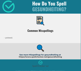 Correct spelling for gesundheiting