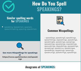 Correct spelling for speakings