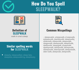 Correct spelling for sleepwalk