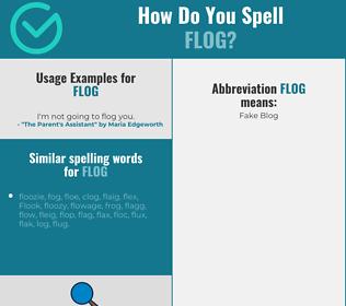 Correct spelling for flog