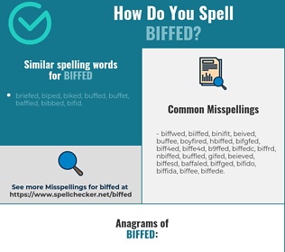 Correct spelling for biffed
