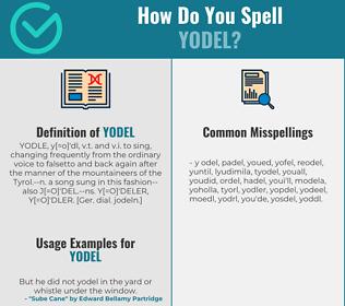 Correct spelling for yodel