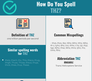 Correct spelling for THz