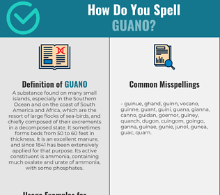 Correct spelling for guano