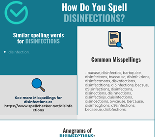 Correct spelling for disinfections