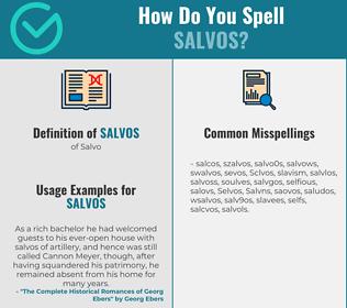 Correct spelling for Salvos