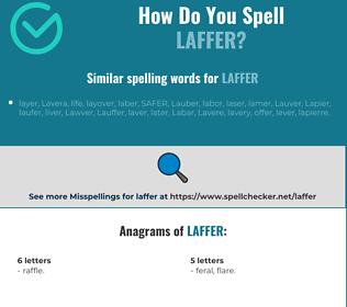 Correct spelling for laffer
