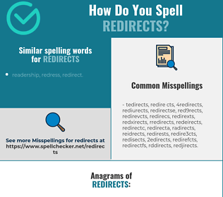 Correct spelling for redirects