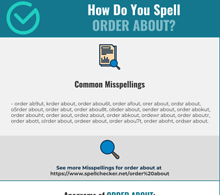 Correct spelling for order about