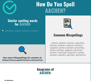 Correct spelling for aachen