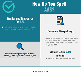Correct spelling for aas