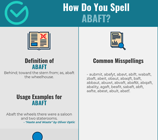 Correct spelling for abaft