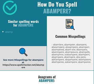 Correct spelling for abampere