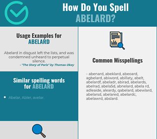 Correct spelling for abelard