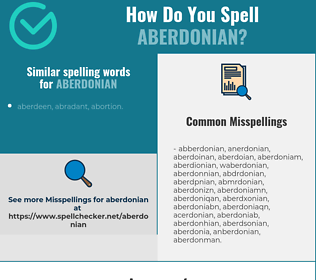 Correct spelling for aberdonian