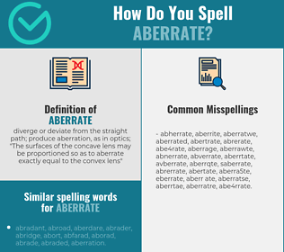 Correct spelling for aberrate
