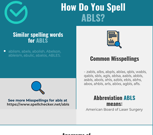 Correct spelling for abls