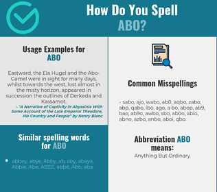 Correct spelling for abo