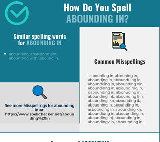 Correct spelling for abounding in