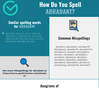 Correct spelling for abradant