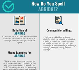 Correct spelling for abridge