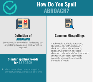 Correct spelling for abroach
