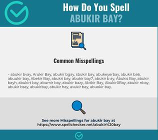 Correct spelling for Abukir Bay