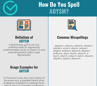 Correct spelling for abysm