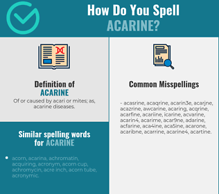 Correct spelling for acarine