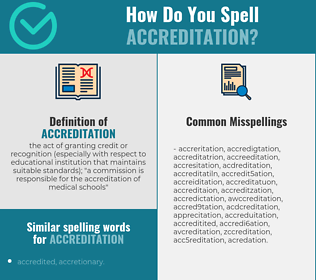 Correct spelling for accreditation