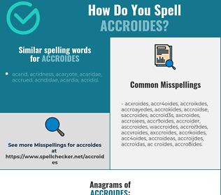 Correct spelling for accroides