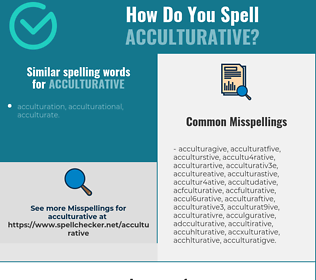 Correct spelling for acculturative