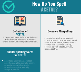 Correct spelling for acetal