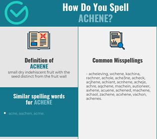 Correct spelling for achene