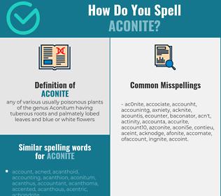Correct spelling for aconite