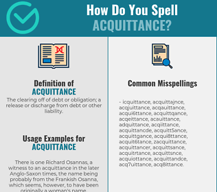 Correct spelling for acquittance