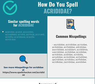 Correct spelling for acrididae