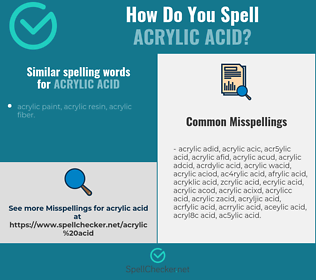 Correct spelling for acrylic acid