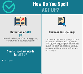 Correct spelling for act up