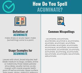 Correct spelling for acuminate