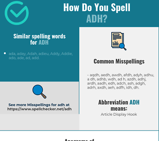 Correct spelling for adh