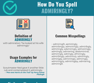 Correct spelling for admiringly
