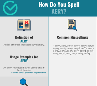 Correct spelling for aery