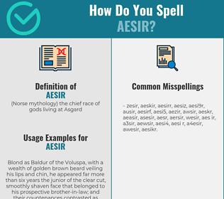 Correct spelling for aesir