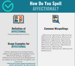 Correct spelling for affectional