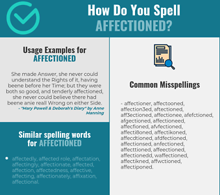 Correct spelling for affectioned